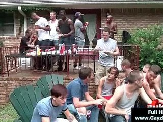 Young guys get covered in loads of hot cum - Bukkake Boys 30
