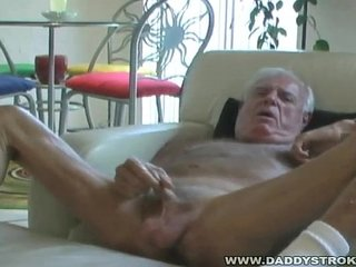 Johnny Jerks His Old Cock