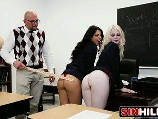 Naughty School Girl Likes Rough Sex & Big Cocks - Gina Valentina, Lily Rader