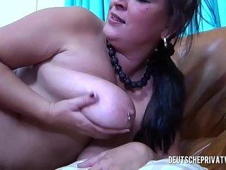 Busty MILF seduces a horny man