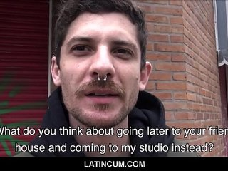 Amateur Straight Spanish Latino With Nose Ring Seduced By Gay Stranger For Money Outside POV