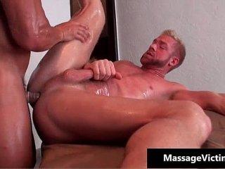 Sexy gay stud blows penis and gets gay porno