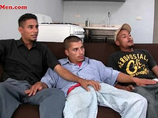Straight married latino men fuck around with each other