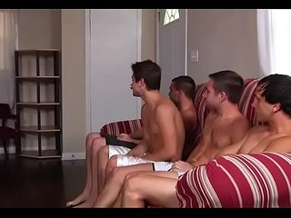 Serious anal group sex on webcam