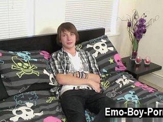Amazing gay scene Cute fresh emo dude Devon commences his movie by