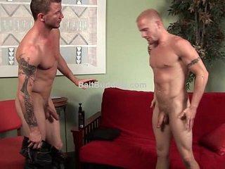 Str8 Brenn Wyson's first gay4pay scene.