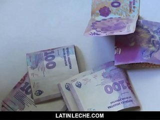 LatinLeche - Shy Latin straight guy barebacked on camera for money
