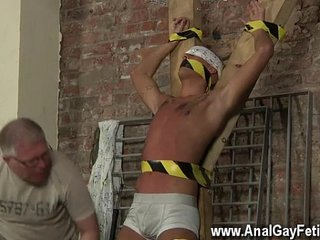 Gay clip of Slave Boy Made To Squirt