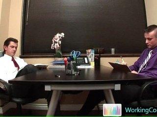 Rigid working queer man in the work gay sex