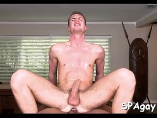 Deep anal drubbing with cute homosexual boy and hunk