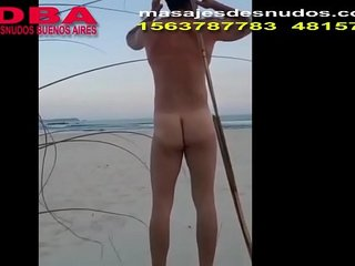 CLIENT IN NUDE BEACH AND GYM SEX by Nude Massage