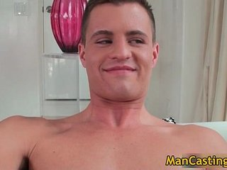 Pretty face hunk Tommy blows hard boner gay porn